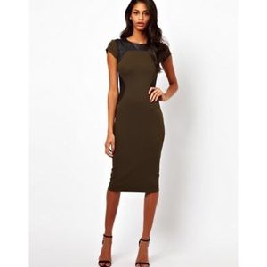 🌟 ASOS Bodycon Dress with Leather Panels 4
